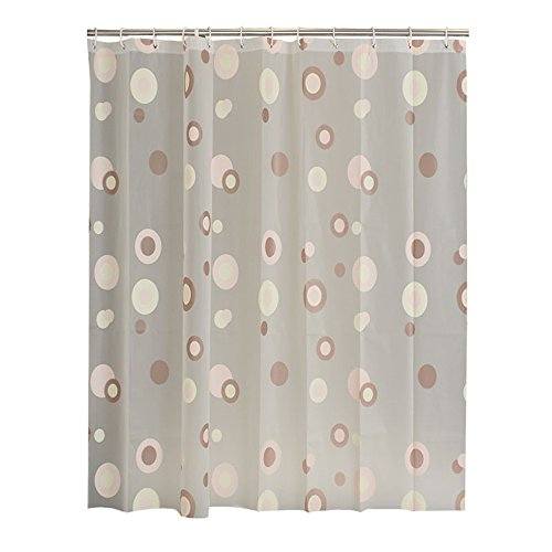 Shower curtain, European style, waterproof and mildew, thickening, coffee ring, shelter, bathroom curtain, curtain, curtain (Size : 200200cm)