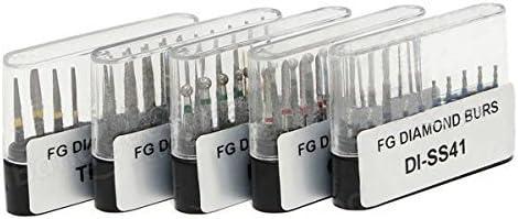 High Speed FG Rotary Burr Set Diameter 1.6mm Drill Bits 50pcs Diamond Burs