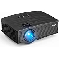 Projector, WiMiUS Upgraded 2200 Lumens Mini Projector with 170 Display, 50,000 Hours LED Full HD Video Projector 1080P Support, Compatible with Fire TV Stick, HDMI, VGA, USB, AV, TF for Home Theater