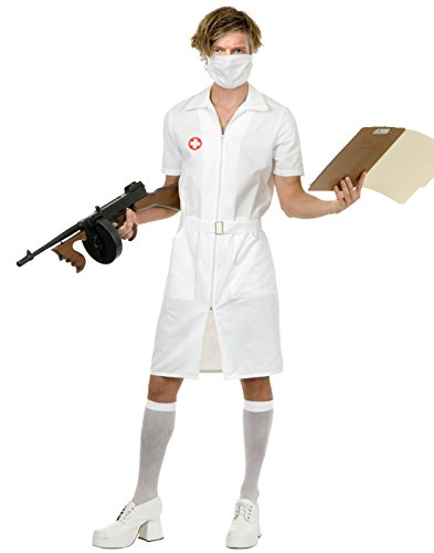[Twisted Nurse Costume - X-Large - Chest Size 44] (Joker Nurses Costume)