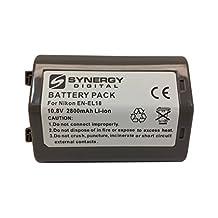 Nikon D5 DSLR Digital Camera Battery Lithium-Ion (2800 mAh) - Replacement for Nikon EN-EL18 Battery