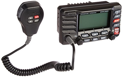Eclipse 2 Way Radio - Standard Horizon GX1700B Standard Explorer GPS VHF Marine Radio - Black