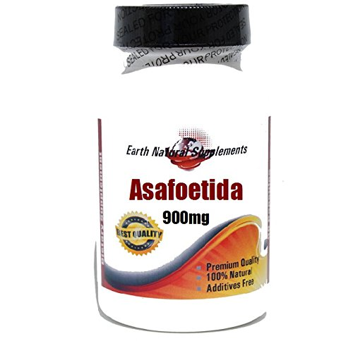 Asafoetida 900mg * 180 Capsules 100 % Natural - by EarhNaturalSupplements by Premium (Image #1)