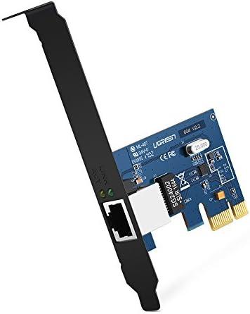 UGREEN Tarjeta de Red Gigabit Ethernet PCI Express 10/100/1000 Mbps con Puerto Gigabit Ethernet RJ45 y Perfil Doble, Adaptador de Red Gigabit PCIe ...