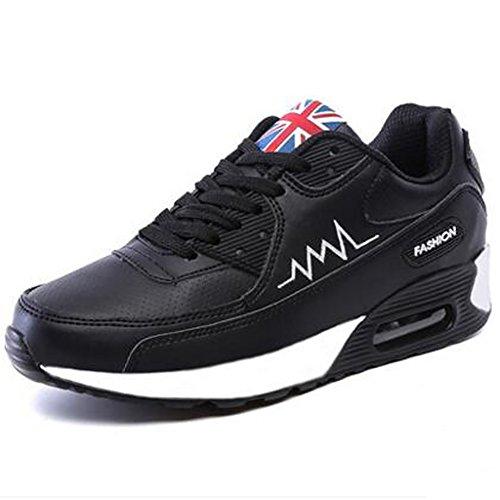No.66 Ville Femmes Air Casual Marche Chaussures De Course Sneaker Mode # 955 Noir