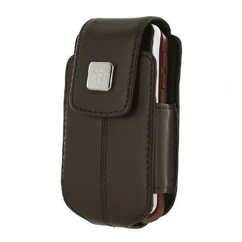 BlackBerry 8220 Leather Swivel Holster (Dark Brown) (Swivel Leather Holsters 8220)