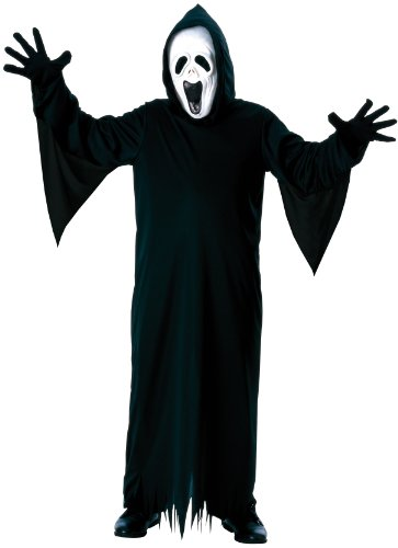 [Halloween Concepts Child's Howling Ghost Costume with Mask, Robe and Gloves, Medium] (Black Full Cut Robe Costumes)