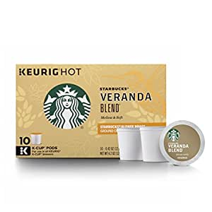Starbucks Veranda Blend Blonde Light Roast Single Cup Coffee for Keurig Brewers, 6 Boxes of 10 (60 Total K-Cup pods)