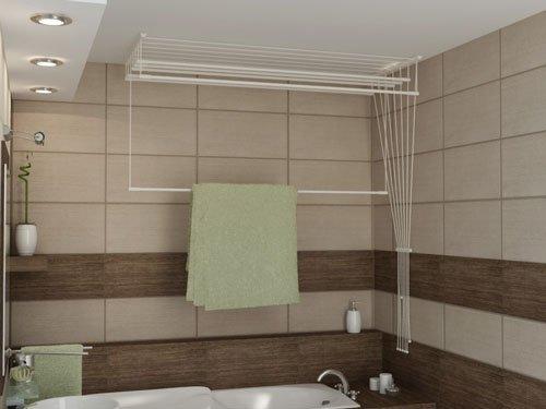 Stenditoio sospeso a soffitto AIRAVIE 160cm con 6 aste: Amazon.it ...