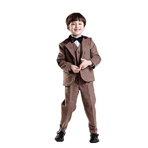 CoCosion Boy's Fashion and Formal 5-pieces Winter Suit Set by CoCosion