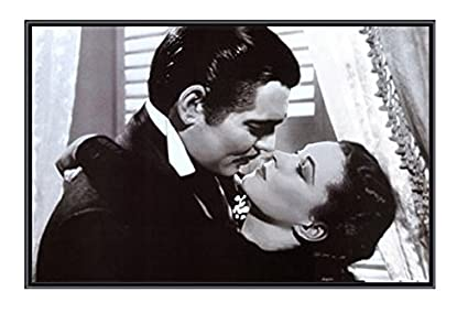 Amazon.com: (34x22) Gone with the Wind Vivien Leigh and Clark Gable ...