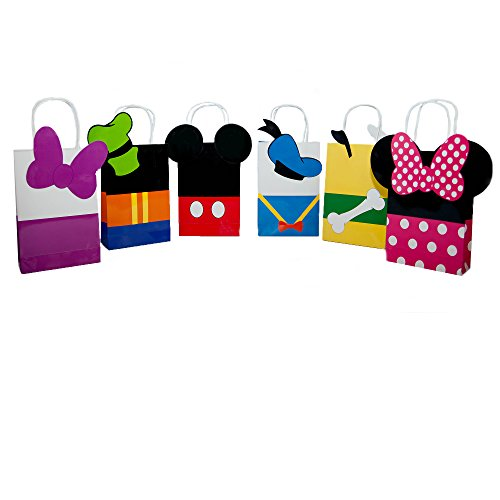 Lilly and the Bee Novelties Mouskariffic Paper Gift Bags Set of 6