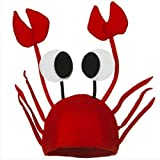 #8: TraveT Lobster Crab Sea Animal Hat for Costume Party Fancy Dress Adult Kids