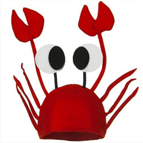 TraveT Lobster Crab Sea Animal Hat for Costume Party Fancy Dress Adult Kids - Fancy Dress Costumes Adult