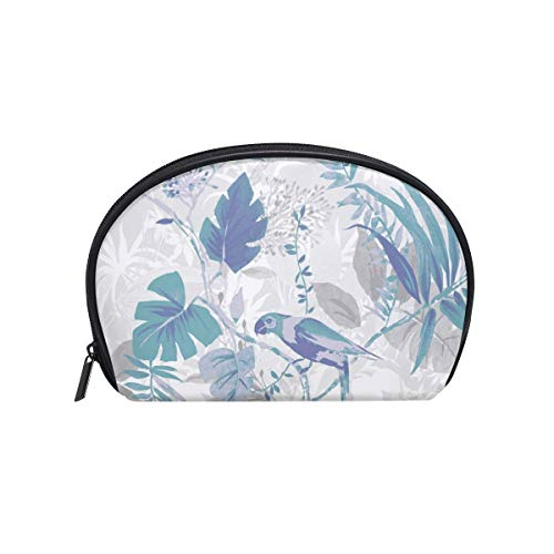 Dragon Sword Blue Leaf Wallpaper Cosmetic Bag for Women Travel,Shell Shapes Portable Makeup Bag Purse Handbag Organizer