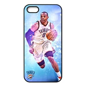 Oklahoma City Thunder Russell Westbrook Image Design iPhone 5/5s TPU Case-by Allthingsbasketball