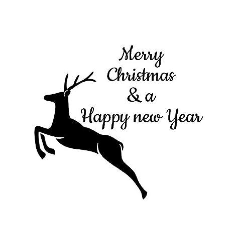 Buon Natale Freestyle Testo.Pre Inked Personalizzato Lucido 52 Millimetri Timbro Personalizzato
