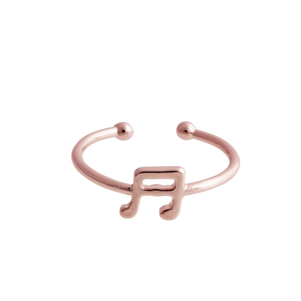 GUANDU Music Symbol Opening Band Rings for Unisex-Adult