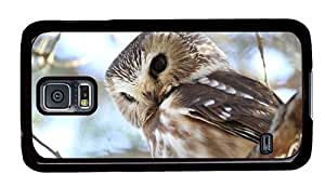 Hipster Samsung Galaxy S5 Case protective cover northern saw whet owl PC Black for Samsung S5