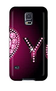 New GLWqjbo7278fpREy I Love You With Pink Shine Skin Case Cover Shatterproof Case For Galaxy S5
