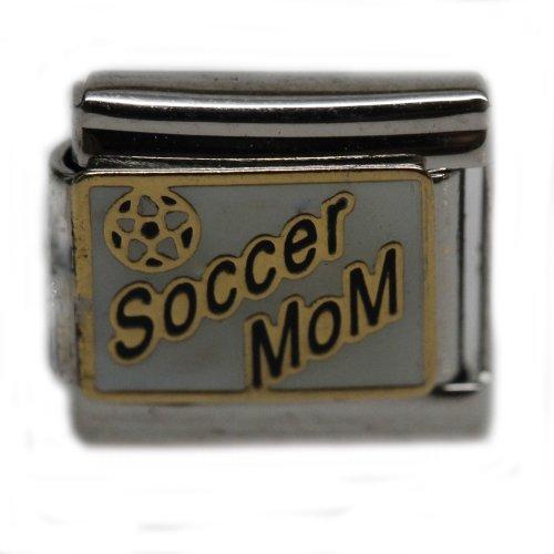 SEXY SPARKLES Soccer Mom Italian Link Bracelet Charm