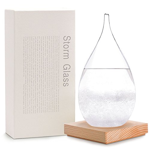 Amymami Storm Glass Weather Predictor Large (7.1''x3.7''x3.7''),Creative Desktop drops Weather Glass Bottle Forecaster Barometer,Weather Station Crafts Home Office - Home Glasses