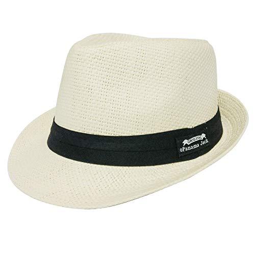 Panama Jack Men's Matte Toyo Fedora L Ivory (Panama Jack Polarisierten Sonnenbrillen)