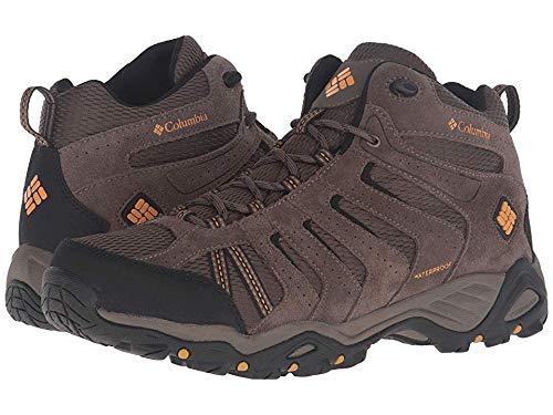 Columbia Men's North Plains II Waterproof MID Hiking Boot, Mud, Squash, 11.5 D US