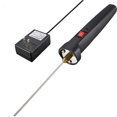 GOCHANGE Foam Electric Cutting Machine Pen, 100-240V/15W Craft Hot Knife 10CM Styrofoam Cutting Pen with Electronic Voltage Transformer Adaptor Black