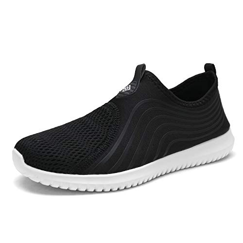 DREAM PAIRS Women's C0206_W Black White Fashion Athletic Water Shoes Sneakers Size 9.5 M US