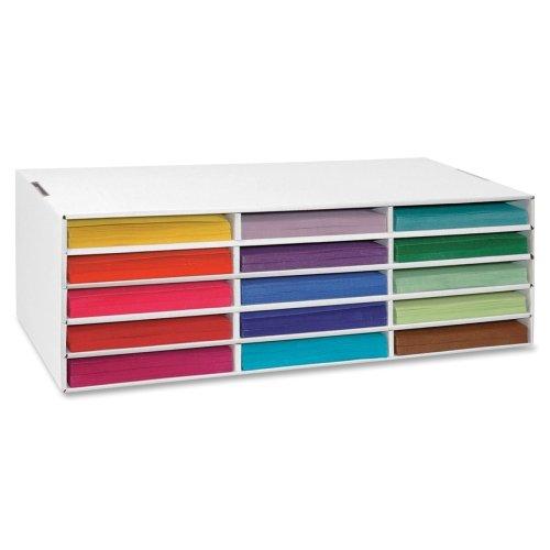 Wholesale CASE of 10 - Pacon 15-Shelf Construction Paper Storage Unit-Construction Paper Storage, 15 Slots, 28-3/4''x13-1/2''x8-1/2''
