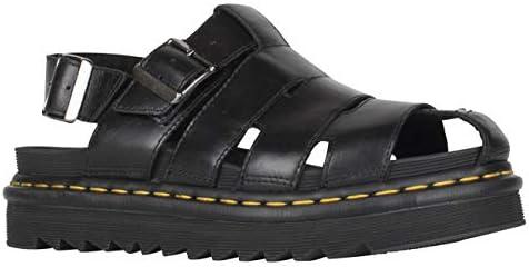 usa cheap sale hot product on wholesale Dr. Martens ABEL-DM Black Womens Flat Sandals Summer Sandals ...