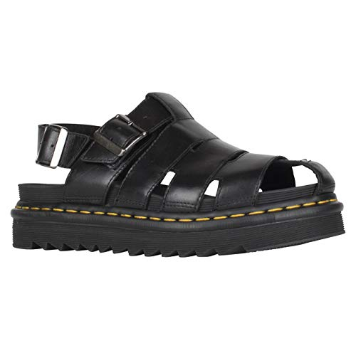 Dr. Martens Unisex Adults Able Closed Toe Brando Leather Black Sandals - Black - W10/M9 ()