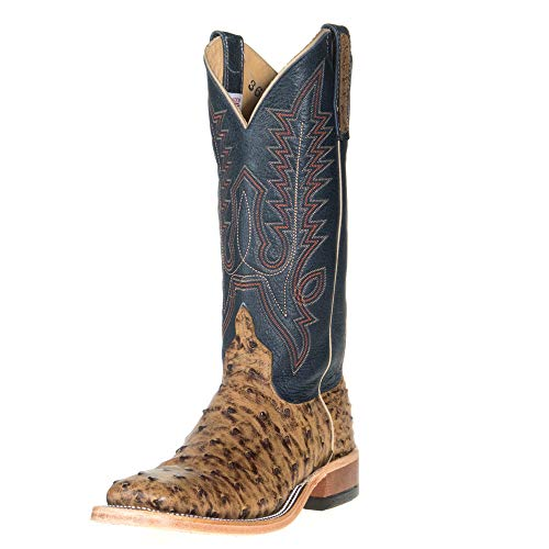 Ladies Full Quill Ostrich Boots - Anderson Bean Womens Ladies Vintage Full