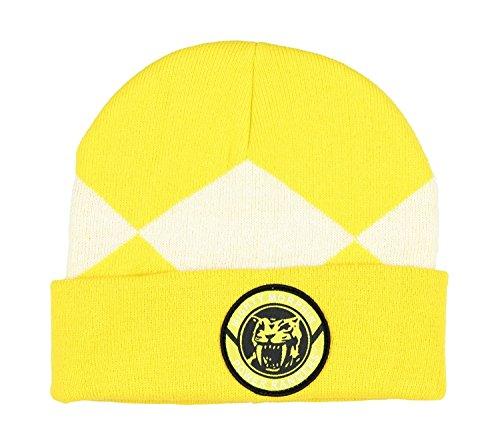 [Power Rangers Costume Beanie Hat (Yellow Ranger), One Size] (Yellow Power Ranger Costume Adults)
