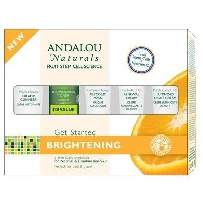 - Andalou Naturals Get Started Brightening 5-Piece Kit - 1 Kit