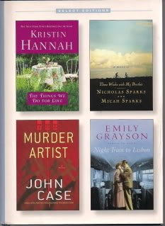 Reader's Digest Select Editions (The Things We Do For Love, Murder Artist, Three Weeks with my Brother, Night Train to Lisbon, 1)