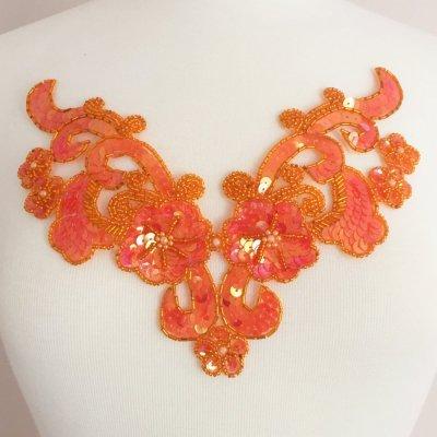 vesta-beaded-sequin-neckpiece-by-shinetrim-orange