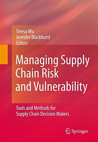Managing supply chain risk and vulnerability tools and methods for managing supply chain risk and vulnerability tools and methods for supply chain decision makers teresa wu jennifer vincent blackhurst ebook amazon fandeluxe Image collections