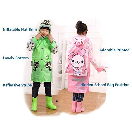 Prueba Con Los La Impermeable Viento Verde El Sombrero Raya Clásico Cabritos Respirable Y Reflexivo Chubasquero De Poncho Mujeres Inflable A Mochila qZxw5XPft