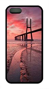bridge cool TPU Silicone Case Cover for iPhone 5/5S Black by Maris's Diary
