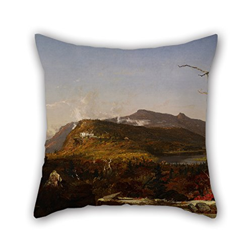 Oil Painting Jasper Francis Cropsey - Catskill Mountain House Pillowcase 16 X 16 Inches / 40 By 40 Cm For Teens Girls,chair,bar,gril Friend,adults,sofa With Two (Jasper Bar Chair)
