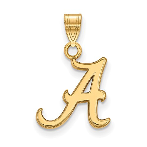 10k Yellow Gold University of Alabama Crimson Tide School Letter Logo Pendant S - (13 mm x 12 mm)