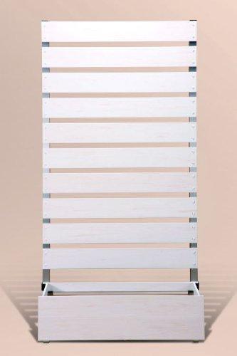 プランタボックス付コンフォートフェンス 幅90センチx高さ180センチ 板間隔3センチ ホワイト色 B006GLS8OM 23937