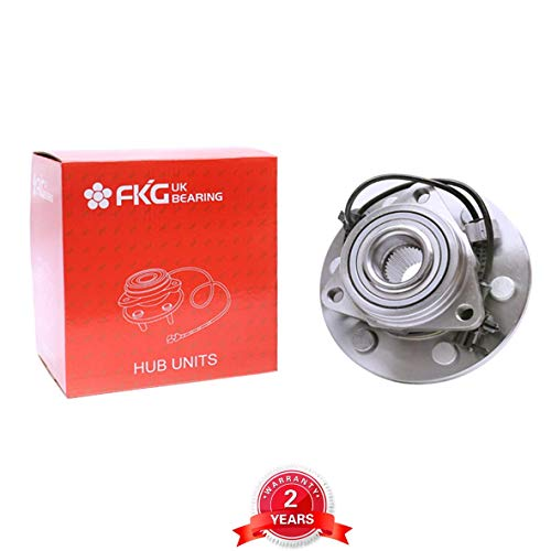 FKG 515036 Front Wheel Bearing & Hub Assembly GMC Sierra Chevy Silverado 1500 4x4 6 Lug(4WD Only)