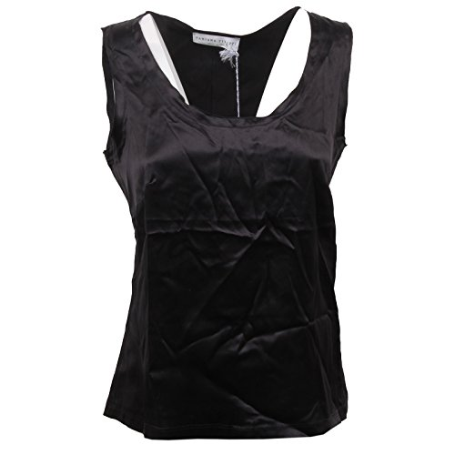 Filippi Donna D1430 Nero T shirt Seta Woman Sleeveless Fabiana Black Silk Canotta tqdBw