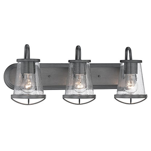 87003-WI Bathroom Lighting, Darby 3 Light Bath (Natural Iron Finish Bath)