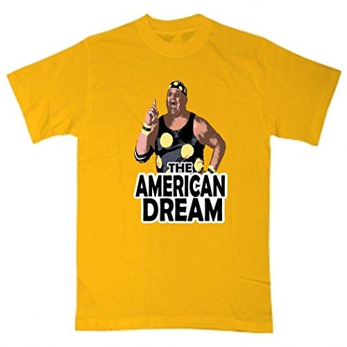 Silo Shirts GOLD Dusty Rhodes WWF T-Shirt ADULT by Silo Shirts