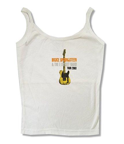 Bruce Springsteen E Street Band 2003 Guitar Juniors Camisole Shirt (S) White