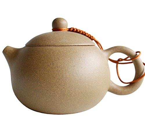 Yixing Teapot 7.4oz/220ml Chinese Zisha Tea Xishi Pots Natural (Mud Pot)